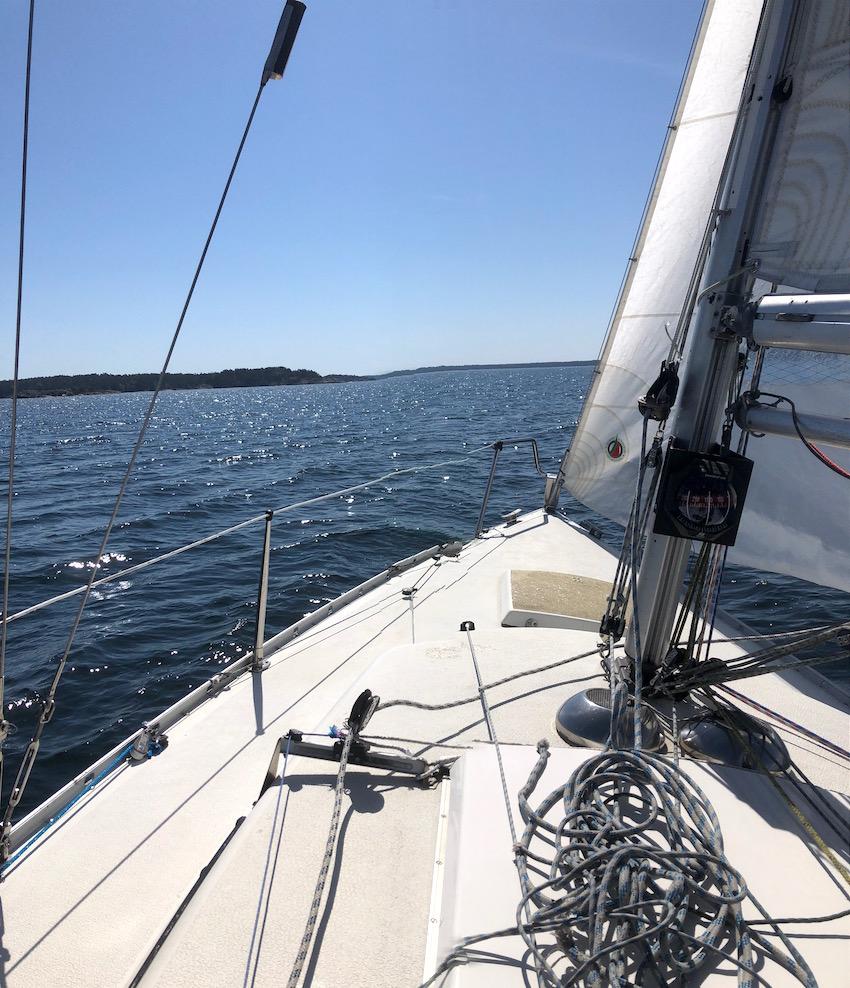 Kryss ut mot Oxnö. En miss i bilden dock, när jag försökte mig på att ta en panoramabild.